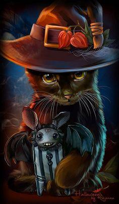 Kitty with Bat::by Kajenna.. .