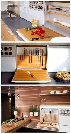 ✔ 44 best small kitchen design ideas for your tiny space 10 - Küchenmöbel Diy Kitchen Decor, Kitchen Furniture, Kitchen Interior, New Kitchen, Kitchen Storage, Kitchen Ideas, Kitchen Designs, Kitchen Wood, Kitchen Small