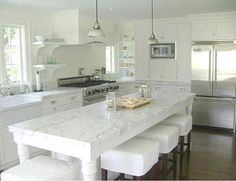 I'd love an all white kitchen.