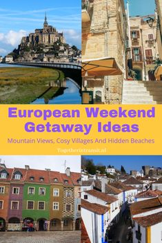 European Weekend Getaway Ideas: Mountain Views, Cosy Villages And Hidden Beaches - Together In Transit Europe Travel Guide, Travel Guides, Travel Destinations, Weekend Trips, Weekend Getaways, Hidden Beach, Short Trip, Lake District, Mountain View