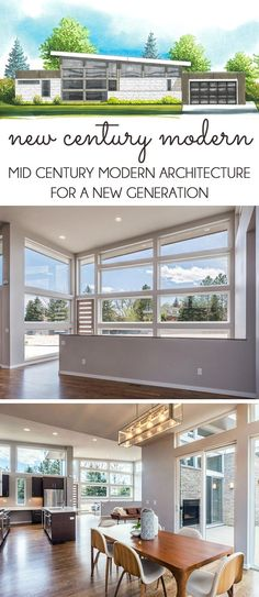 Get a sneak peek inside a new Denver neighborhood with 24 individually modern ranch homes that draw inspiration from the mid century modern architecture. This new take on mid mod is dubbed New Century Modern.