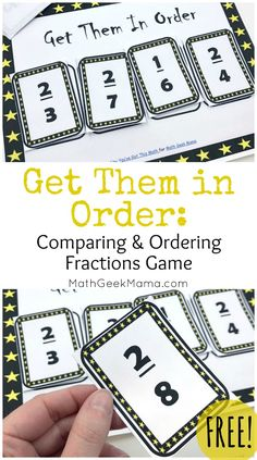 Do your kids have a strong fraction sense? This fun, yet challenging comparing fractions game will deepen their understanding & critical thinking skills. Simplifying Fractions, Comparing Fractions, Teaching Fractions, Math Fractions, Teaching Math, Ordering Fractions, Fractions For Kids, Adding And Subtracting Fractions, Dividing Fractions