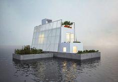 El arquitecto londinense Carl Turner desarrolló una casa flotante prefabricada pensando en la manera de solucionar los problemas que causan las inundaciones en Inglaterra, aunque claro está que se puede adaptar a cualquier lugar del mundo.