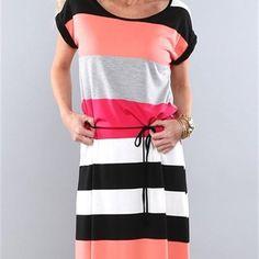 Jane.com - Coco and Main Striped Maxi Dress Blowout - AdoreWe.com