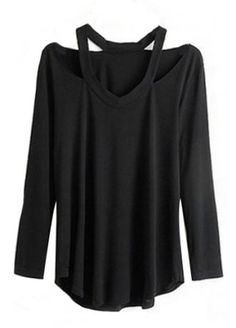 V-Neck Cut Out Top | Attitude Clothing