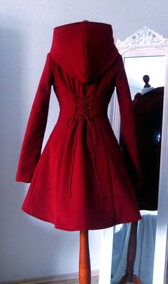 Reserved for Seda-charming bright red hooded coat Dress Outfits, Fashion Outfits, Womens Fashion, Fashion Coat, Classy Outfits, Cute Outfits, Mantel Outfit, Coats For Women, Jackets For Women