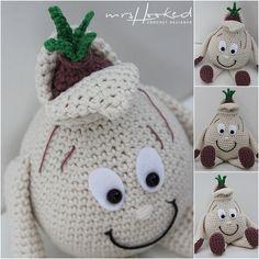 (In Haken) Crochet Fruit, Crochet Food, Diy Crochet, Crochet Crafts, Crochet Dolls, Crochet Baby, Amigurumi Patterns, Amigurumi Doll, Lidl