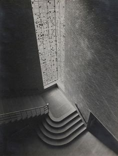 Werner Mantz - A staircase of the hbs school in Tilburg. Architect J. Wielders