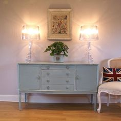 Stunning French Style, Shabby chic Sideboard, dresser painted Farrow & Ball Dix | eBay