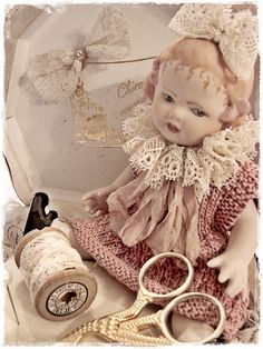 vintage doll she made her dolls clothes