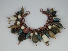 Bailey's Moment- Copper & Polymer Clay Bracelet
