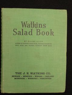 Watkins Salad Book  1946 by HolyCityVintage on Etsy