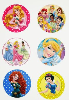 "Folie du Jour Bottle Cap Images: Disney princess 1"" inch free digital bottle cap images"