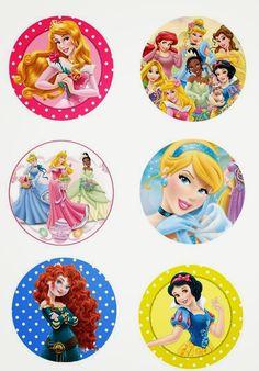 """Folie du Jour Bottle Cap Images: Disney princess 1"""" inch free digital bottle cap images"""