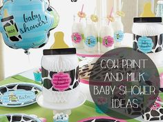 Cow Print and Milk Baby Shower Ideas