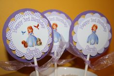 cupcake toppers | Cupcake Toppers - Sofia the first