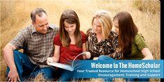 How To Do High School Homeschooling - Thehomescholar.com   Site dedicated to encouraging homeschooling hs