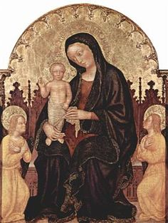 Madonna With Two Angels - Gentile da Fabriano