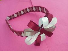 Handmade head bands made to match school uniforms. Visit www.brionisboutique.co.uk