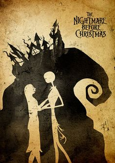 Tim Burton Nightmare Before Christmas Minimalist by moonposter