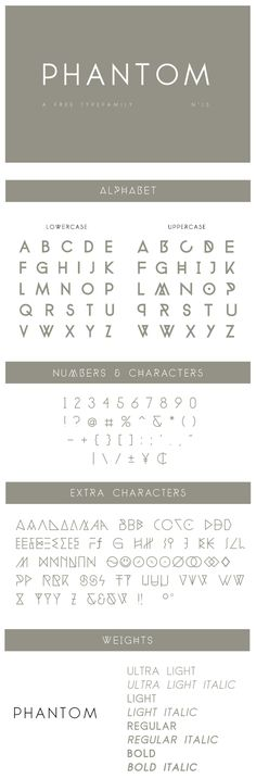 Free Font - Phantom