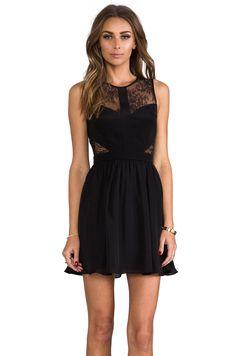 Jay Godfrey Royko Dress in Black/Black