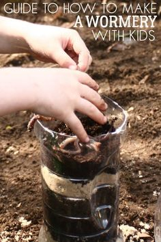Guide to making a wormery for the KS 2 Classroom out of a plastic bottle Forest School Activities, Nature Activities, Science Activities, Animal Activities, Toddler Activities, Science Nature, Hands On Activities, Outdoor Learning, Home Learning