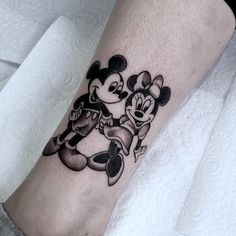 Mickey and Minnie Mouse Tattoo... I remember being a kid wanting a mickey tattoo