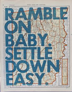 Ramble On Baby/ Oklahoma by amyriceart on Etsy, $40.00
