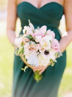 Beautiful bouquet: http://www.stylemepretty.com/2015/05/25/elegant-emerald-gold-military-wedding/   Photography: Graham Terhune - http://www.grahamterhune.com/