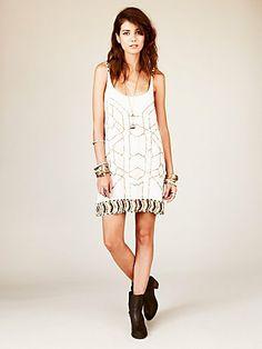 Gauze Sequin Shift Dress