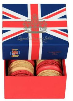Laduree Makes Queen Jubilee Macarons