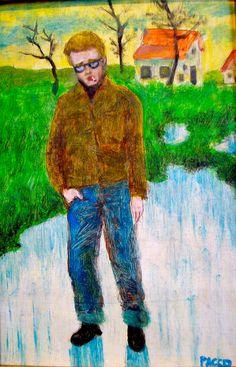 James Dean, cuadro de Pacco, óleo sobre tabla.