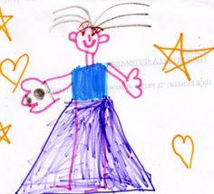 """""""La mia mamma"""" …negli occhi di un bambino… http://libriscrittorilettori.altervista.org/la-mia-mamma-negli-occhi-di-un-bambino/ #mamma #principessa #disegno #bambini #scuolainfanzia"""