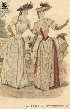 1889 Fashion Plates, Women's Fashion, Painting, Art, Art Background, Fashion Illustrations, Fashion Women, Womens Fashion, Kunst