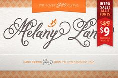 Melany Lane font is just $9 on Creative Market through 8/15 - this font is usually $49