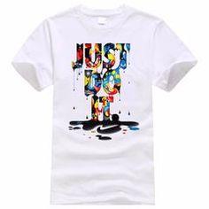Just Do It T shirt Brand Clothing Hip Hop Letter Print Men Short Sleeve Anime High Quality T-Shirt Men Casual T Shirts, Shirts For Girls, Men Casual, Branded T Shirts, Printed Shirts, Printed Cotton, Camisa Nike, Estilo Hip Hop, T Shirt Court