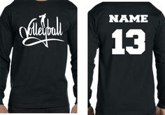 Changing Seasons - VolleyBall Player w/name and number Long Sleeve TShirt, $16.00 (http://www.changingseasonemb.com/volleyball-player-w-name-and-number-long-sleeve-tshirt/)