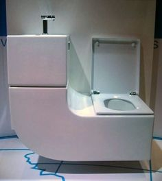 For tiny houses-------Living in a shoebox | Water saving design combines sink and toilet