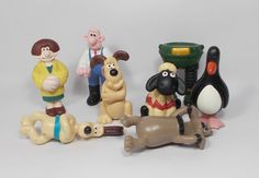 Wallace & Gromit - Mini Figures X 8 Close Shave, Animation, Christmas Ornaments, Toys, Holiday Decor, Mini, Character, Activity Toys, Christmas Jewelry