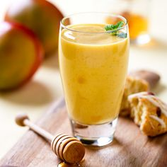 Peach Mango Smoothie, Yum! http://www.horizondairy.com/recipes/mango-lassi-smoothie/#