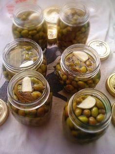 olives. Called smashed olives (olive schiacciate.) Calabrese olives ...