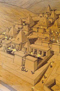 Egypt - Thebes - Theban Tombs of Deir el Medineh - Festival of torches  jeanclaudegolvin.com