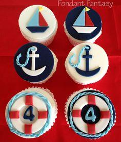 Náuticos Cupcake Toppers por FondantFantasy en Etsy