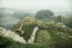 Hadrian's Wall.  Nearby Kielder Forest is one of the best places in England for looking at stars