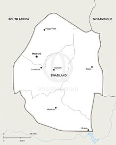 Vector map of cameroon political pinterest vector map of eswatini swaziland political ccuart Image collections