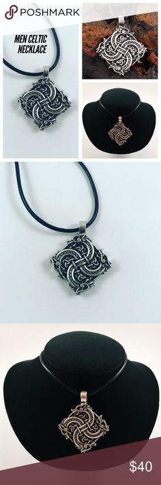 Men celtic warrior amulet wolf /leather necklace Men necklace. Comes on a 24 inch black italian leather cord. Tibetan silver Celtic / Norse / viking warrior amulet pendant , wolf head design . New / never worn by anyone. I ship fast!!😊✈️😉 Bundle and save! ( 10 % off bundles) . Any questions let me know! 🚫No transactions outside Poshmark!! Accessories Jewelry