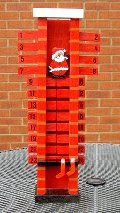 Oh ne, wie süß!!  Der Weihnachtsmann rutscht durch den Kamin als Adventskalender.