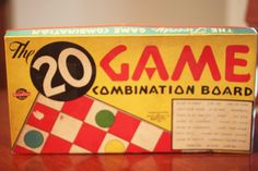 Vintage 1939 The 20 Game Combination Board Game By Milton Bradley