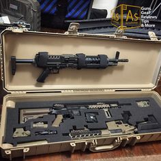Pelican case with airsoft guns
